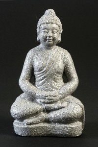 "Sitting Posture: legs crossed in the ""Half Lotus' position"